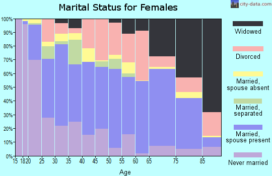 Zip code 29617 marital status for females