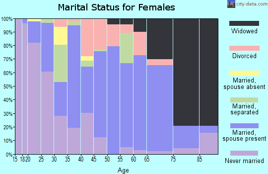 Zip code 29620 marital status for females