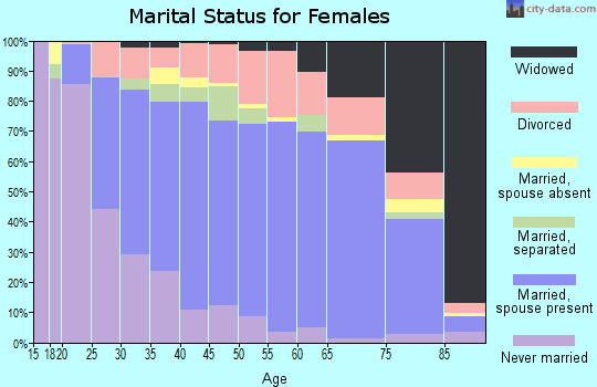 Zip code 29621 marital status for females