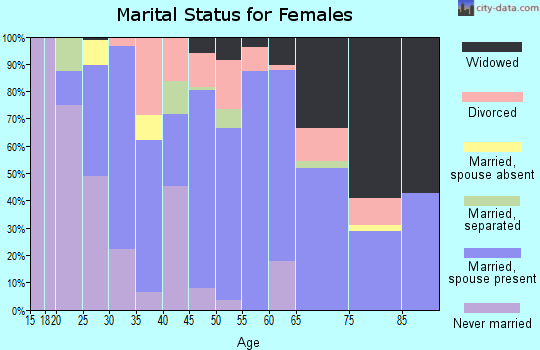 Zip code 29626 marital status for females