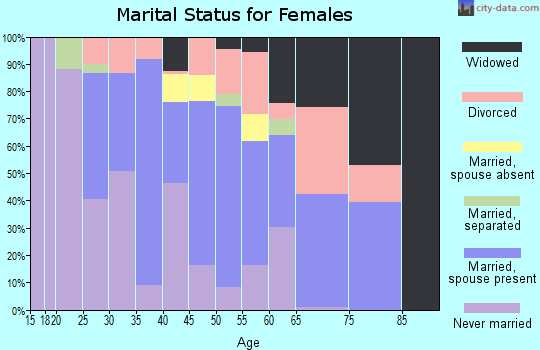 Zip code 29653 marital status for females