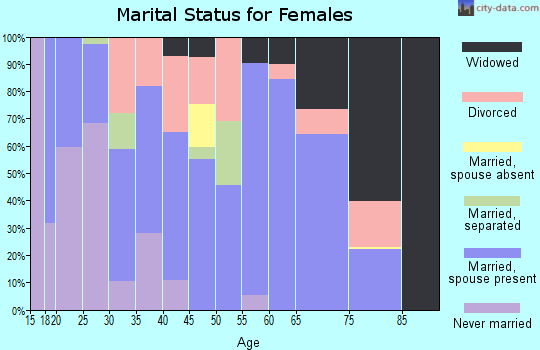 Zip code 29661 marital status for females