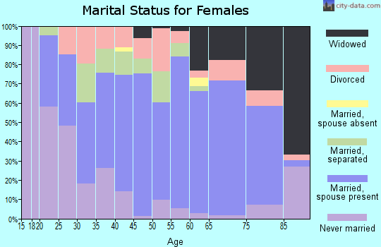 Zip code 29666 marital status for females