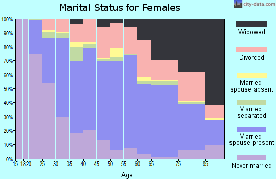 Zip code 29687 marital status for females