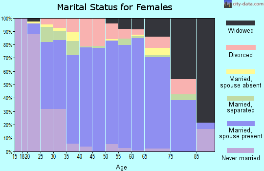 Zip code 29690 marital status for females