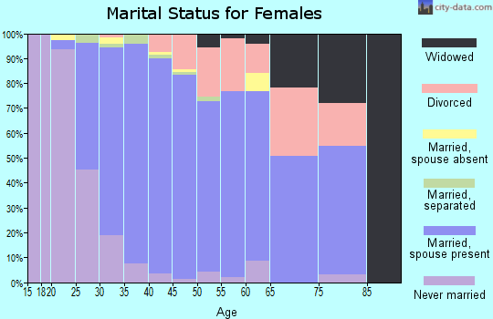 Zip code 29708 marital status for females