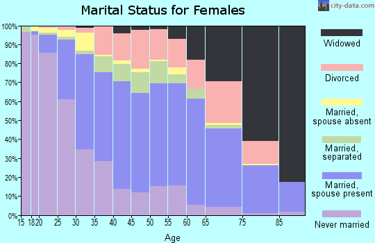 Zip code 29730 marital status for females