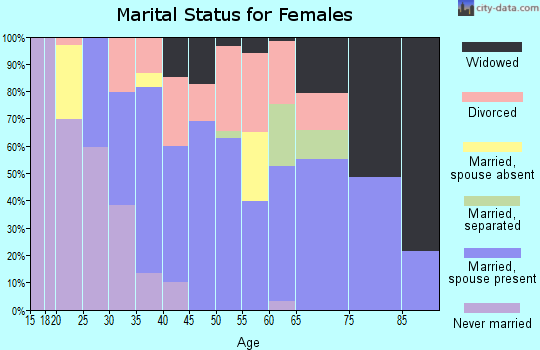 Zip code 29742 marital status for females