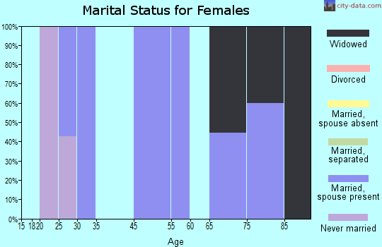 Zip code 29846 marital status for females