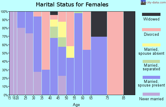 Zip code 29856 marital status for females