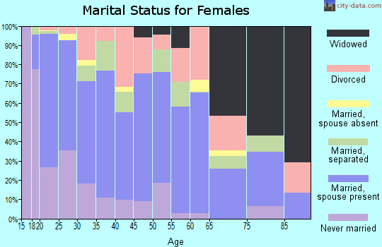 Zip code 29906 marital status for females