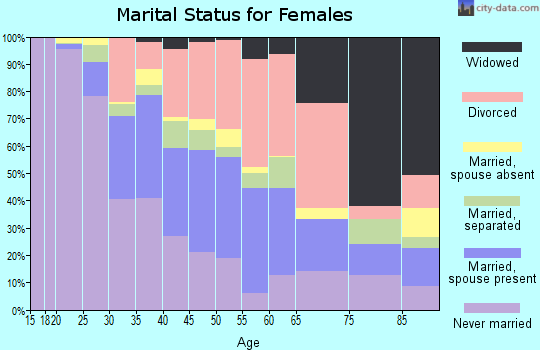 Zip code 30058 marital status for females