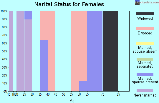 Zip code 30070 marital status for females