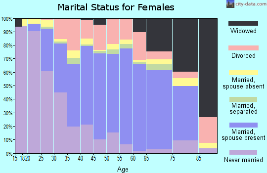 Zip code 30078 marital status for females