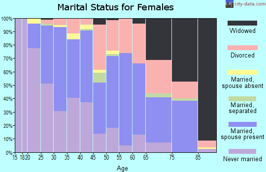 Zip code 30082 marital status for females