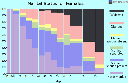 Zip code 30083 marital status for females