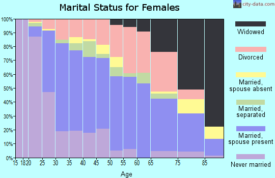 Zip code 30253 marital status for females