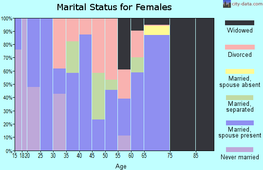 Zip code 30256 marital status for females
