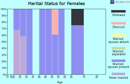 Zip code 30285 marital status for females