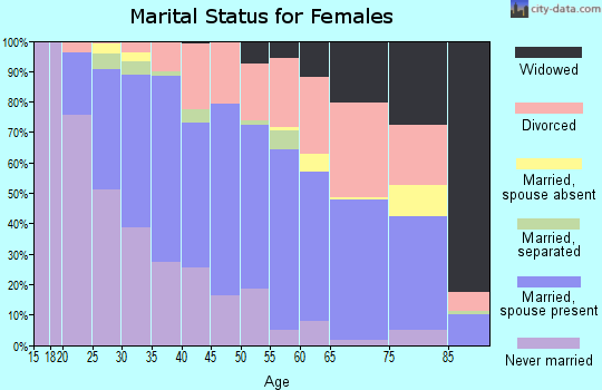 Zip code 30328 marital status for females