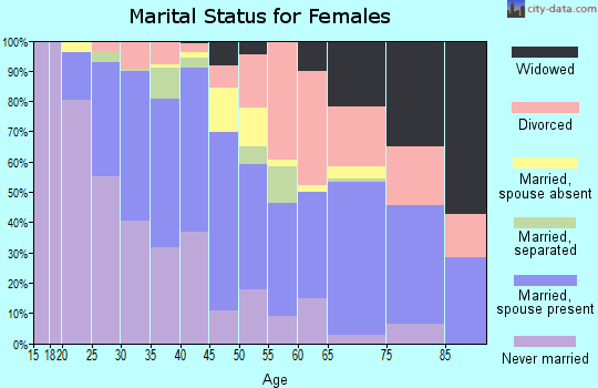 Zip code 30340 marital status for females