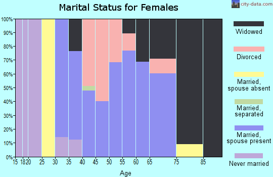 Zip code 31019 marital status for females