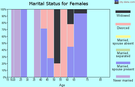 Zip code 31051 marital status for females