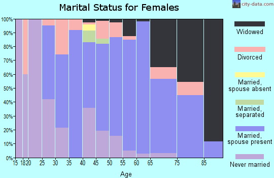 Zip code 31052 marital status for females