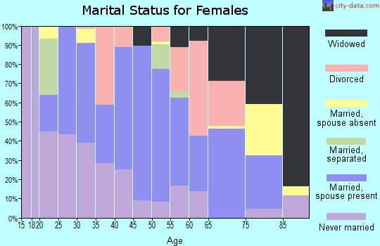 Zip code 31055 marital status for females