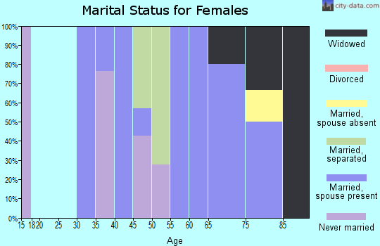 Zip code 31067 marital status for females