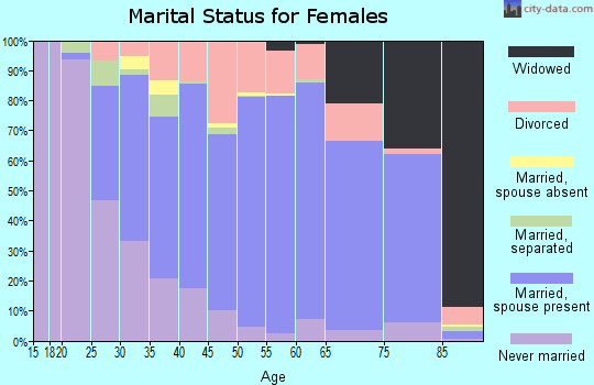 Zip code 31210 marital status for females