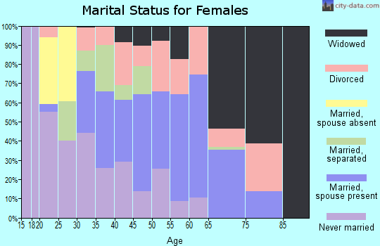 Zip code 31305 marital status for females