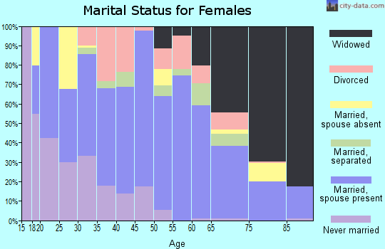 Zip code 31539 marital status for females