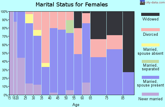 Zip code 31560 marital status for females