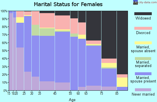 Zip code 31745 marital status for females