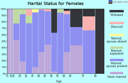 Zip code 31749 marital status for females
