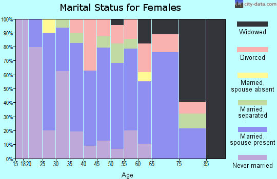 Zip code 31765 marital status for females
