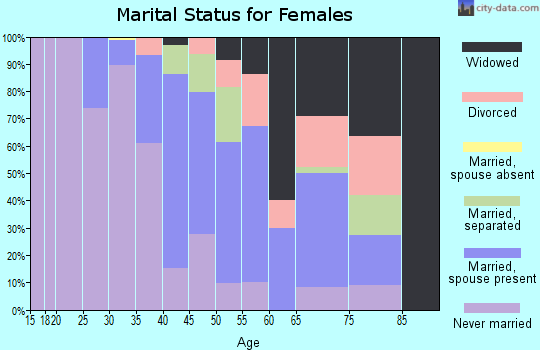 Zip code 31827 marital status for females