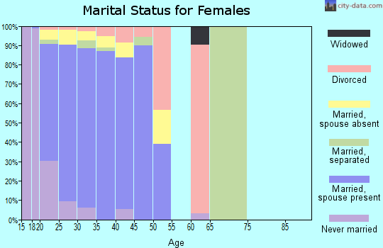 Zip code 31905 marital status for females