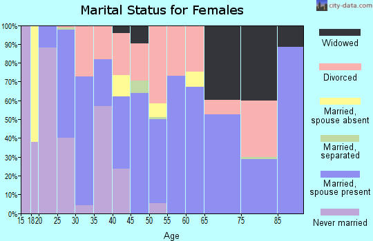 Zip code 32008 marital status for females