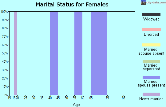 Zip code 32072 marital status for females