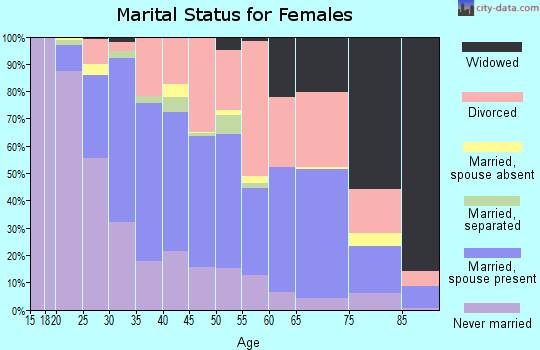 Zip code 32084 marital status for females