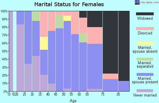 Zip code 32131 marital status for females
