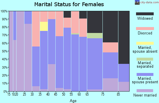 Zip code 32266 marital status for females