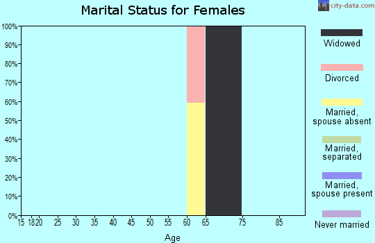 Zip code 32639 marital status for females
