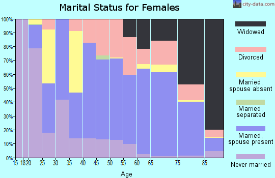 Zip code 32966 marital status for females