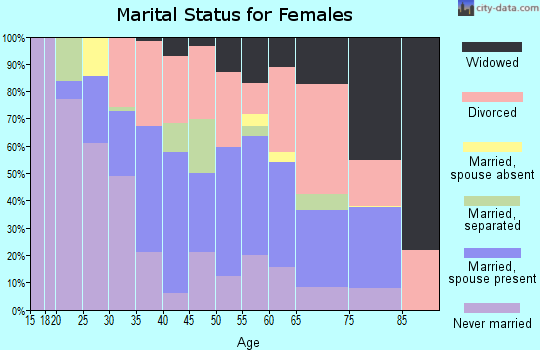 Zip code 33004 marital status for females