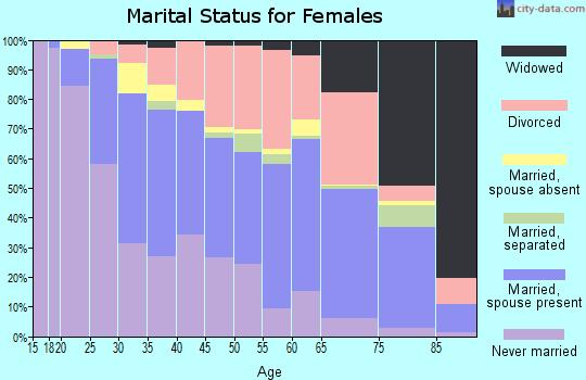 Zip code 33040 marital status for females