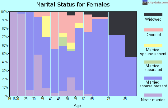 Zip code 33042 marital status for females