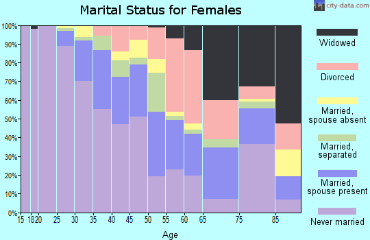 Zip code 33054 marital status for females